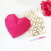 Petit Cœur Rose - Papier 3D. n°2