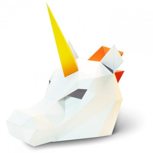 Masque Licorne - Papier 3D