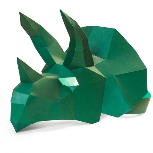 Masque Tricératops - Papier 3D