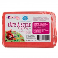 P�te � sucre 250g - Rouge