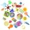 24 Petits Jouets Mixtes - Calendrier de l'Avent Tissu images:#0