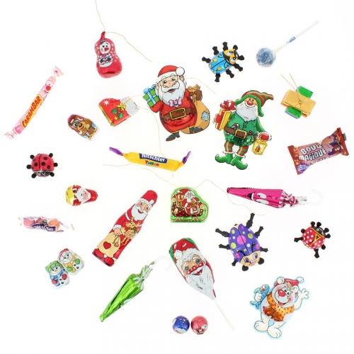 24 Petits Cadeaux Friandises (6 à 10,5 cm maxi) - Calendrier de l Avent