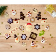 24 Petits Cadeaux Chocolats (5 cm maxi) - Calendrier de l'Avent