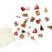Set 24 Mini Cadeaux Déco (3 cm) + Sac coton - Calendrier de l Avent en bois. n°1