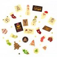 24 Petits Cadeaux Chocolats (6 cm maxi) - Calendrier de l'Avent