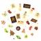 24 Petits Cadeaux Chocolats (6 cm maxi) - Calendrier de l'Avent images:#0