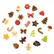 24 Mini Cadeaux Chocolats (3.2 cm maxi) - Calendrier de l'Avent