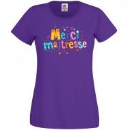 T-shirt Merci Maîtresse Violet