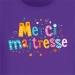 T-shirt Merci Maîtresse Violet. n°2