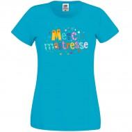 T-shirt Merci Maîtresse Bleu azur