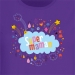 T-shirt Super Maman Nuage - Pourpre. n°2