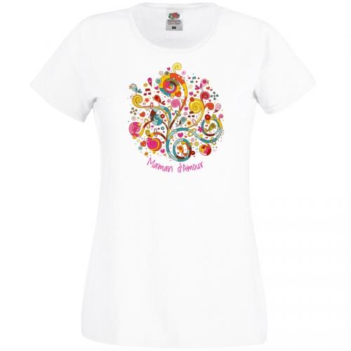 T-shirt Maman d Amour - Blanc