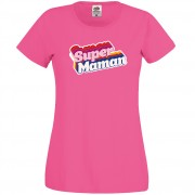 T-shirt Super Maman - Rose Taille L