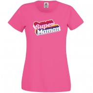 T-shirt Super Maman - Rose