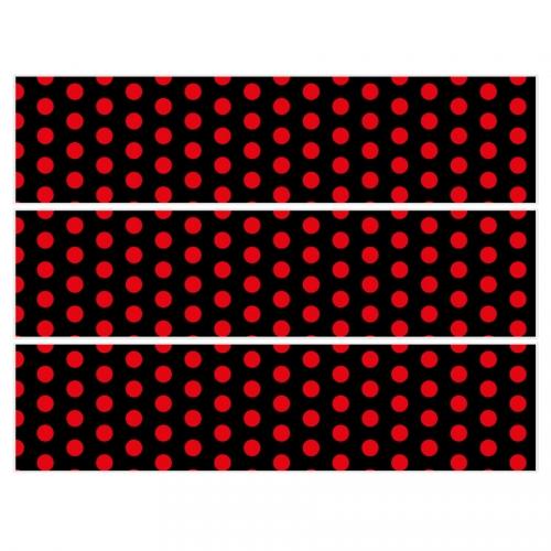 Contours de gâteaux en sucre - Pois Rouge/Noir