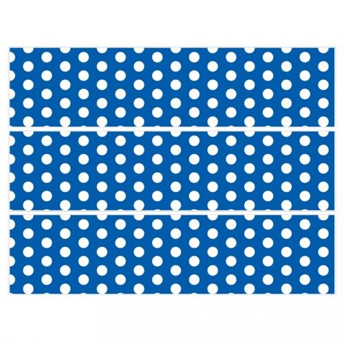 Contours de gâteaux en sucre - Pois Blanc/Bleu