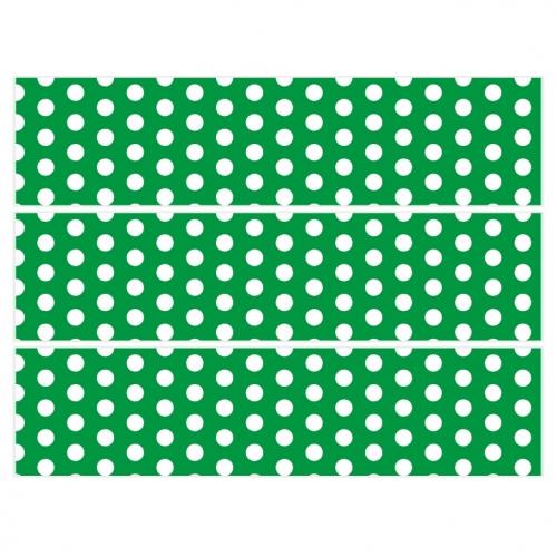 Contours de gâteaux en sucre - Pois Blanc/Vert