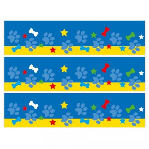 Contours de gâteaux en sucre - Dog Paw Bleu