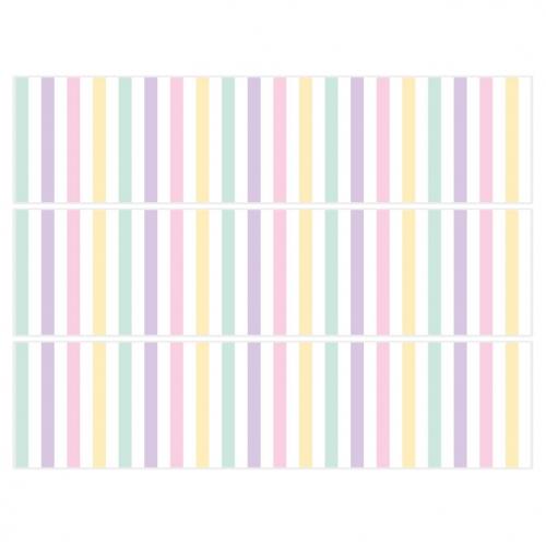 Contours de gâteaux en sucre - Pastel Stripes