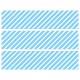 Contours de Gâteaux en Sucre - Rayures obliques Bleu ciel