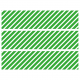 Contours de Gâteaux en Sucre - Rayures obliques Vert
