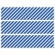 Contours de Gâteaux en Sucre - Rayures obliques Bleu
