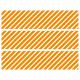 Contours de Gâteaux en Sucre - Rayures obliques Orange