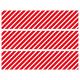 Contours de Gâteaux en Sucre - Rayures obliques Rouge