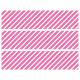 Contours de Gâteaux en Sucre - Rayures obliques Rose