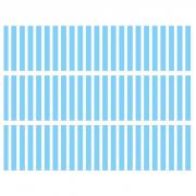 Contours de Gâteaux en Sucre - Rayures verticales Bleu