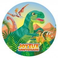 Disque en Sucre Dino T-Rex (19 cm)