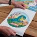 Disque en Sucre Licorne Rainbow (19 cm). n°2
