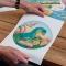 Disque en Sucre Licorne Or (19 cm) images:#1