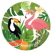 Disque en sucre Tropical Paradise (19 cm)