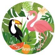 Disque en sucre Tropical Paradise (19 cm)