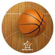 Disque en sucre Basketball (19 cm)