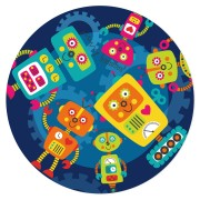 Disque en sucre Robot Party (19 cm)