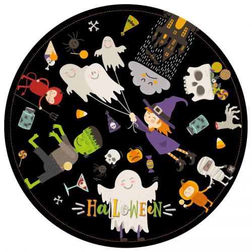 Disque en sucre Halloween Party (19 cm)