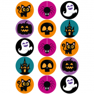 15 Disques en sucre Halloween - 50 mm
