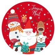 Disque en sucre Père Noël Rouge (19 cm)