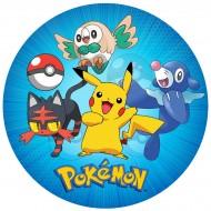 Disque en sucre Pokémon (19 cm)
