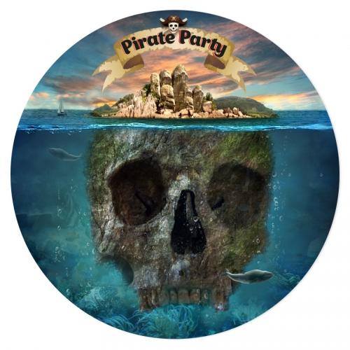 Disque en sucre Pirate l Ile Fantôme (19 cm)