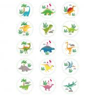 15 Disques en sucre Dino Colors - 50 mm