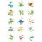 15 Disques en sucre Dino Colors - 50 mm images:#0