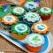 15 Disques en sucre Dino Colors - 50 mm images:#1