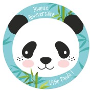 Disque en sucre Little Panda (19 cm)