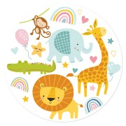 Disque en sucre Jungle Baby (19 cm)