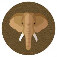Disque en sucre - Éléphant (19 cm)