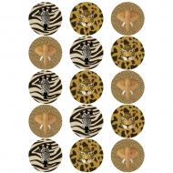 15 Disques en sucre Savane - 50 mm