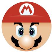 Disque en sucre Tête de Super Mario (19 cm)